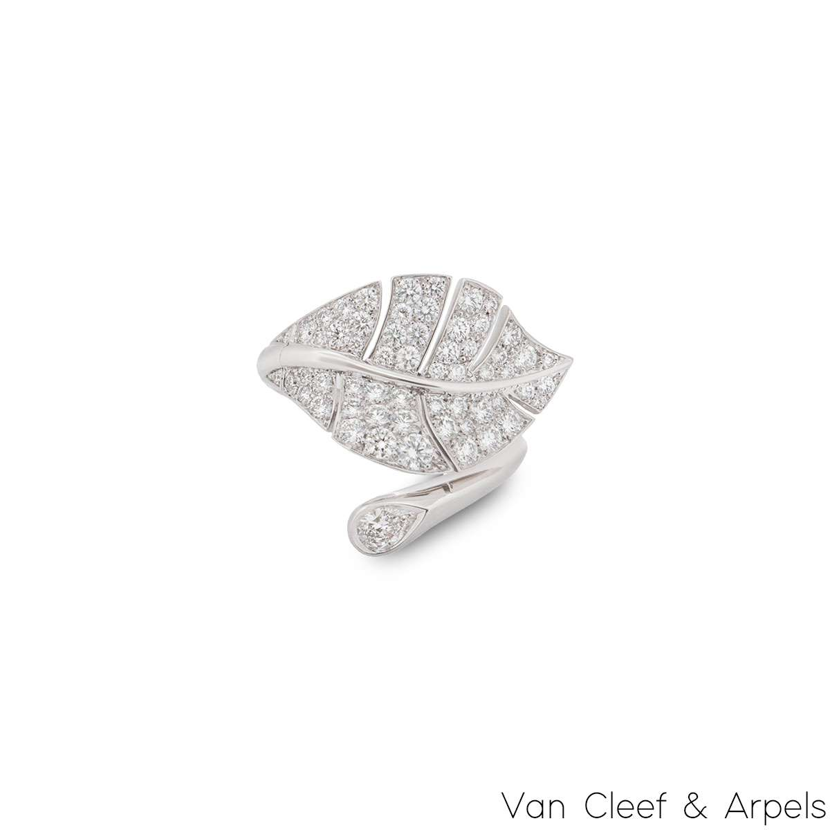 Van Cleef & Arpels White Gold Diamond Virevolte Ring